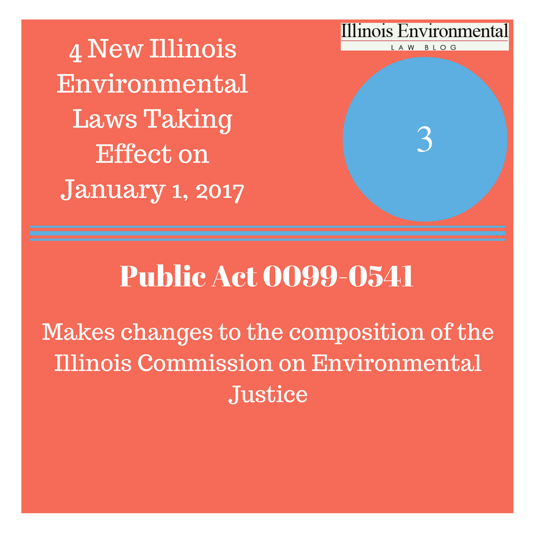 New Law Countdown #3: Amendments to Illinois Environmental Justice Act