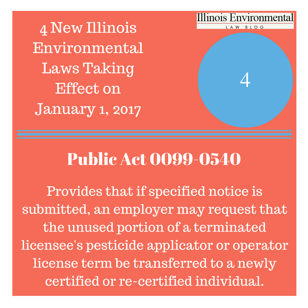 New Law Countdown #4: Amendments to the Illinois Pesticide Act